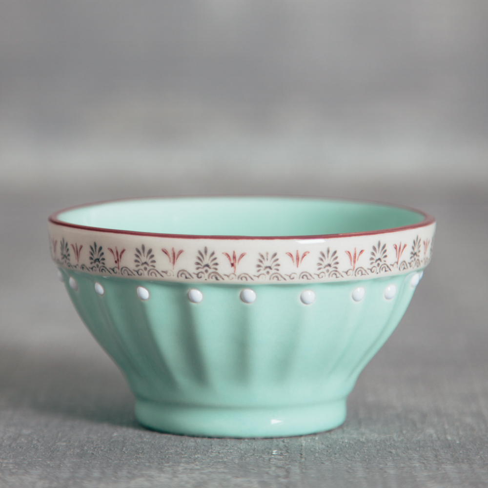 Lillie Painted Nut Bowl Relish Decor sky