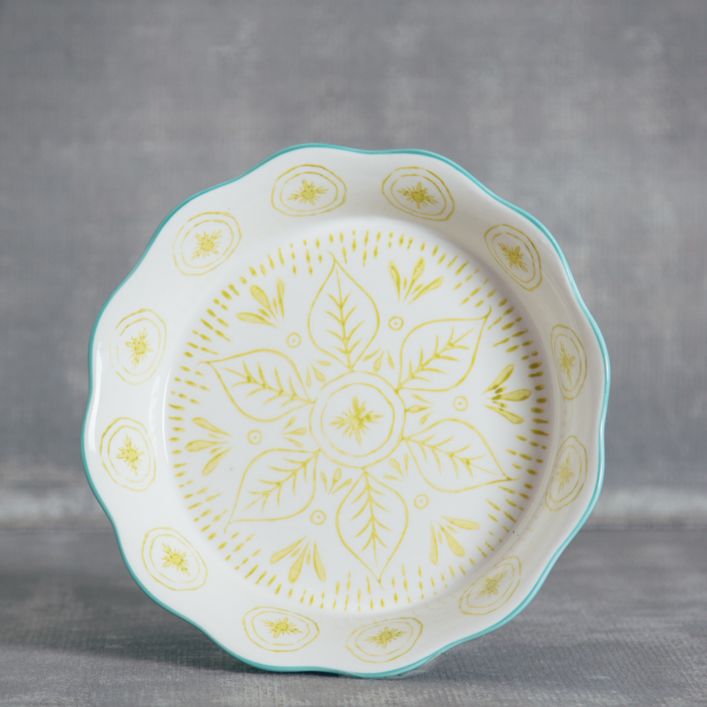 lillie ceramic pie dish relish decor
