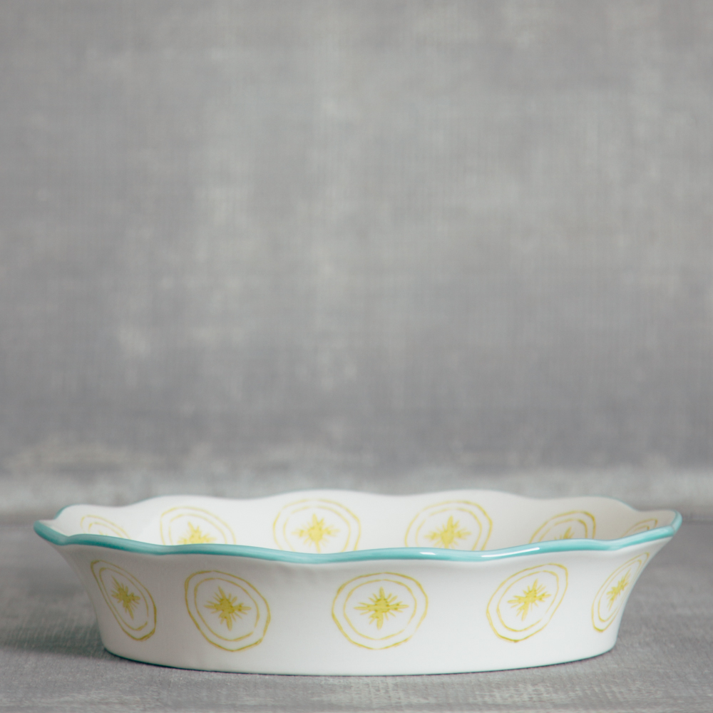 lillie ceramic pie dish relish decor side