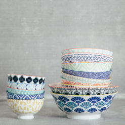 akita stamped pattern bowls relish decor collection