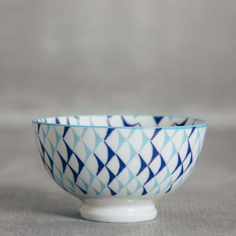 akita small pattern bowl relish decor blue scales