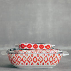 akita pattern bakeware red relish decor