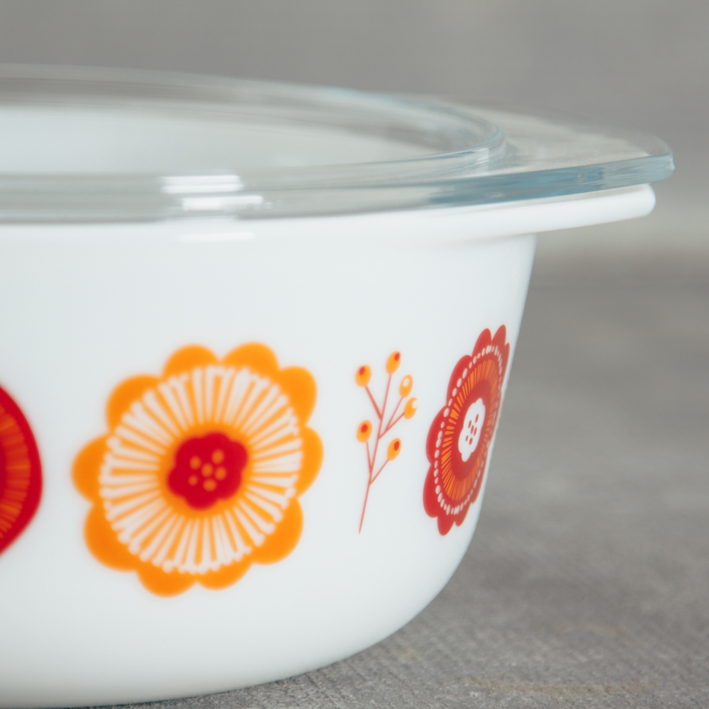 Retro Mod bloom Bakeware Storage relish decor detail