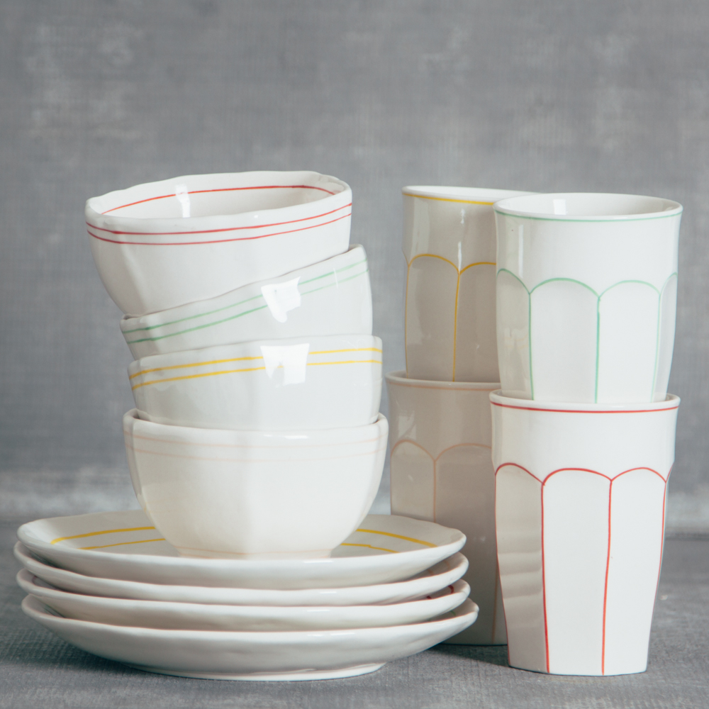 camille striped collection dinnerware relish decor