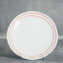 camille striped collection dinnerware plate relish decor red