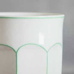 camille striped collection dinnerware cup detail relish decor