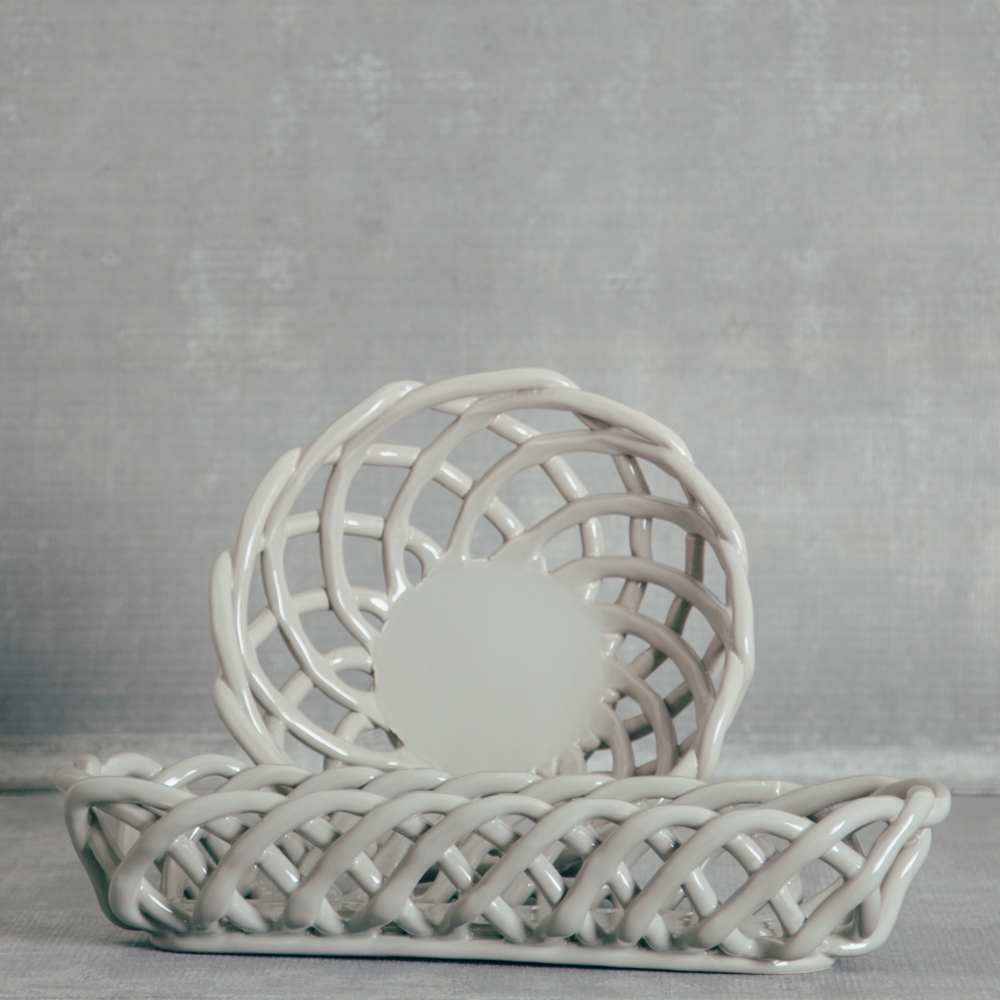 hearth grey bread basket casafina relish decor