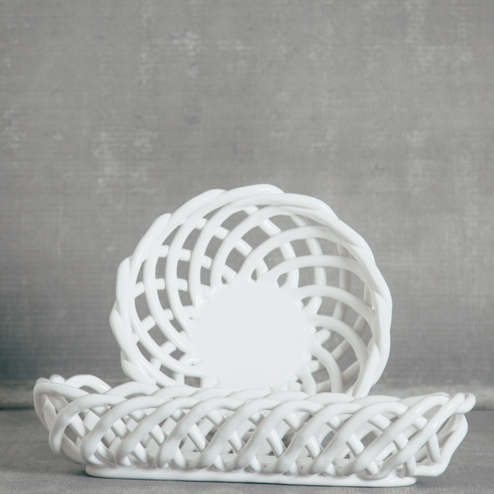 hearth white bread basket casafina relish decor