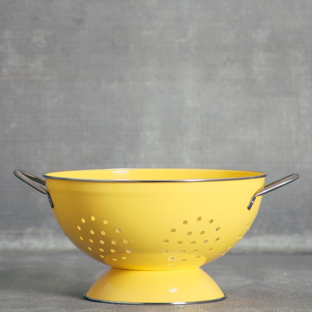 Pamela bright colander large relish decor yellow