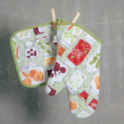 pantry potholder and oven mitt set relish decor