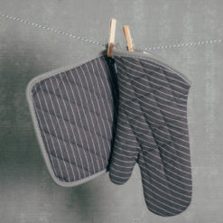 Charcoal potholder and oven mitt set relish decor