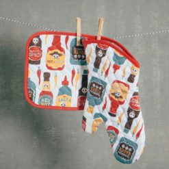 picante hot sauce potholder and oven mitt set relish decor
