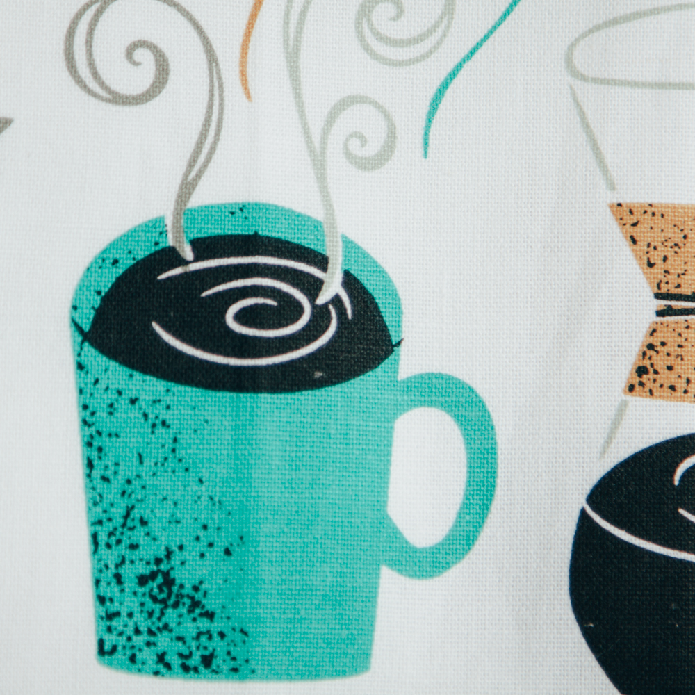 wake up coffee tea dish towel relish decor detail