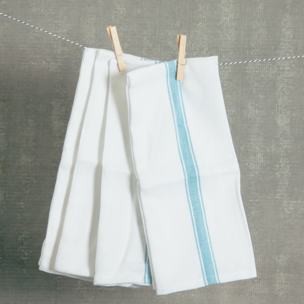 brooklyn serviette towel napkin stripe set sky relish decor