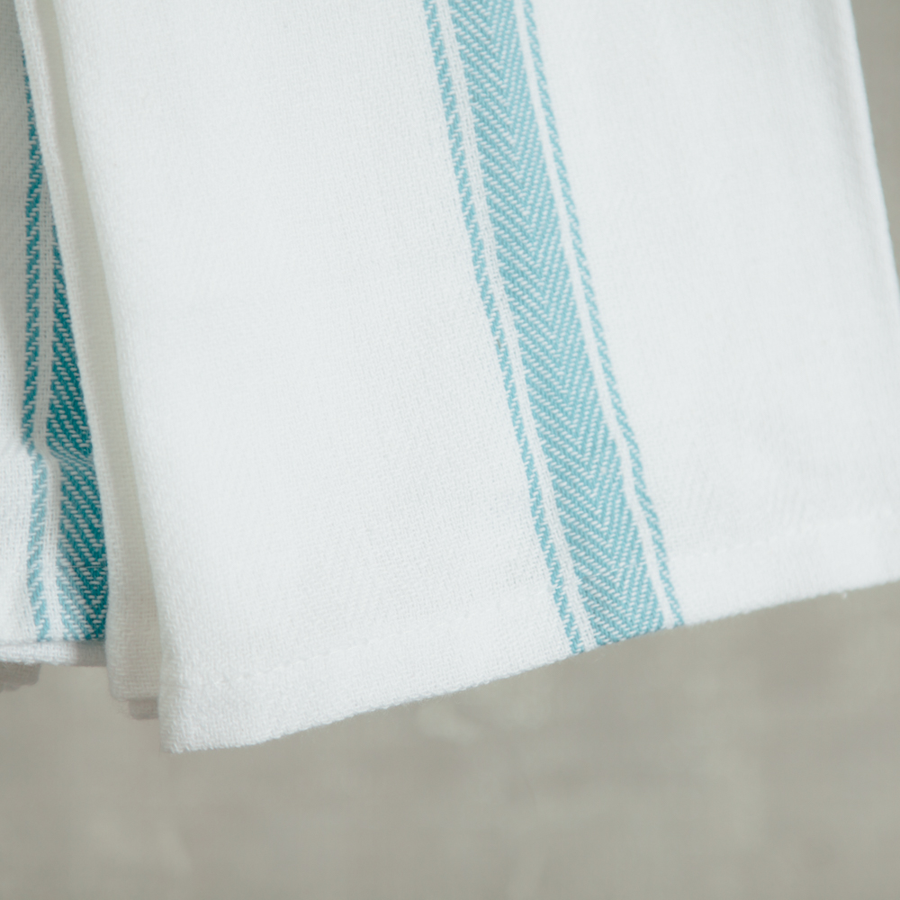 brooklyn serviette towel napkin stripe set sky relish decor detail