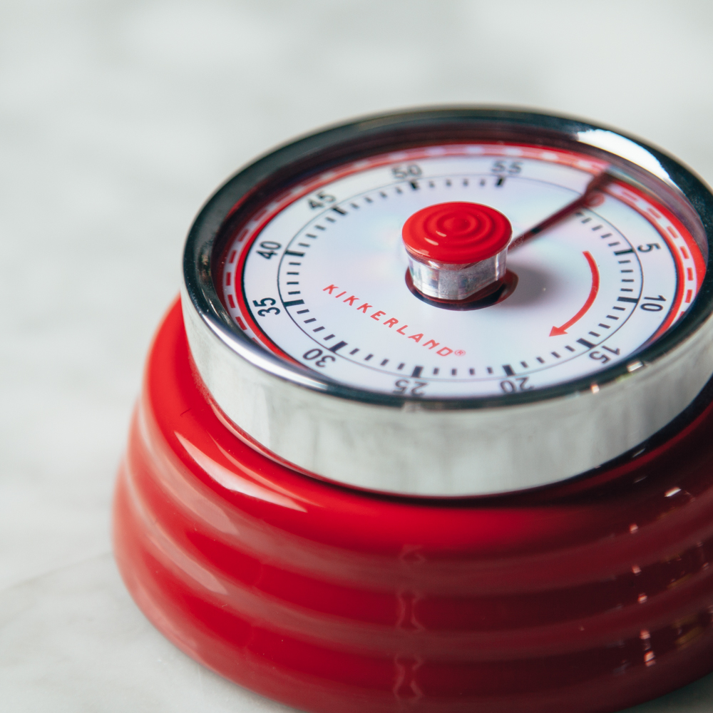 mod magnetic kitchen timer relish decor red