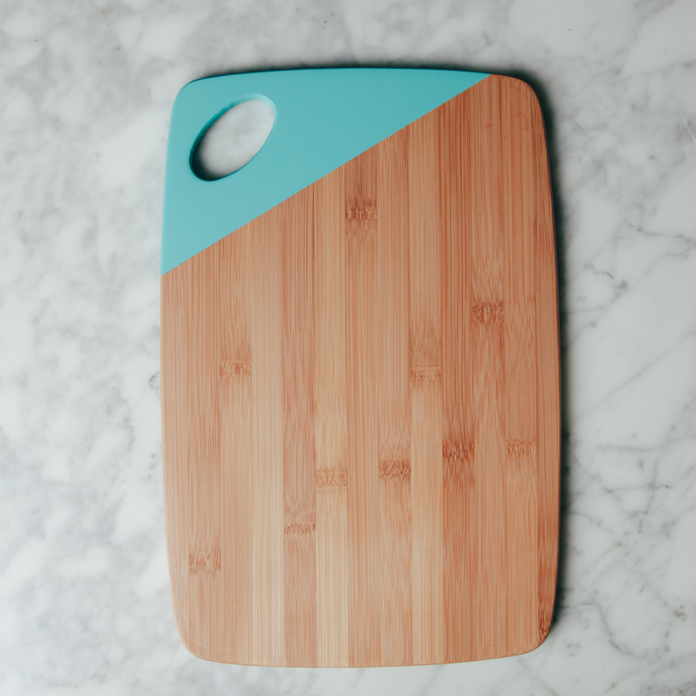 Essential bamboo cutting board relish decor blue