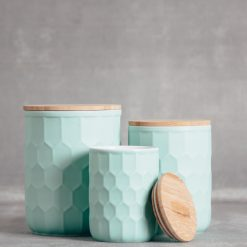 relish decor tupelo honeycomb canisters containers matte mint