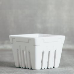 valley ceramic berry basket crates relish decor white
