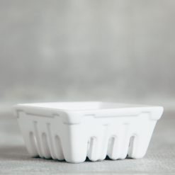 valley ceramic berry basket crates relish decor smaller white