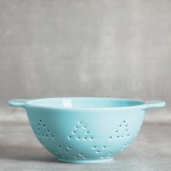 valley ceramic colander berry strainer relish decor aqua