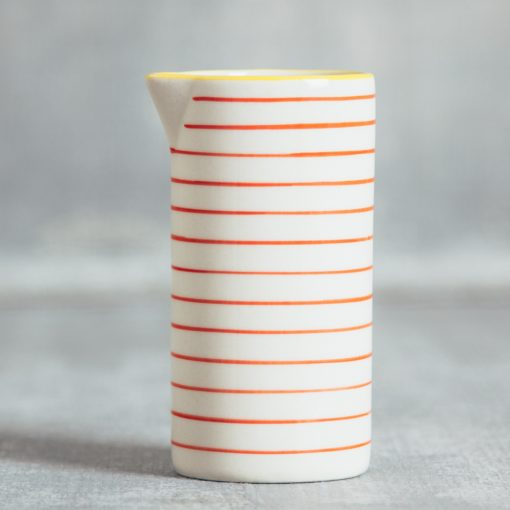 susie q orange stripe pitcher creamer relish decor