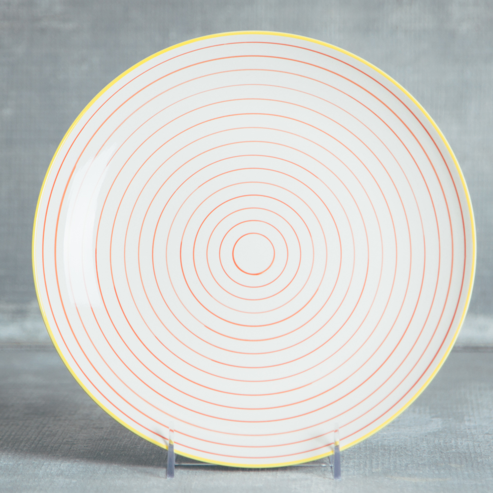 susie q st&ed pattern ceramic dinnerware relish decor cereal dinner plate orange circle : dinner plate decoration - pezcame.com