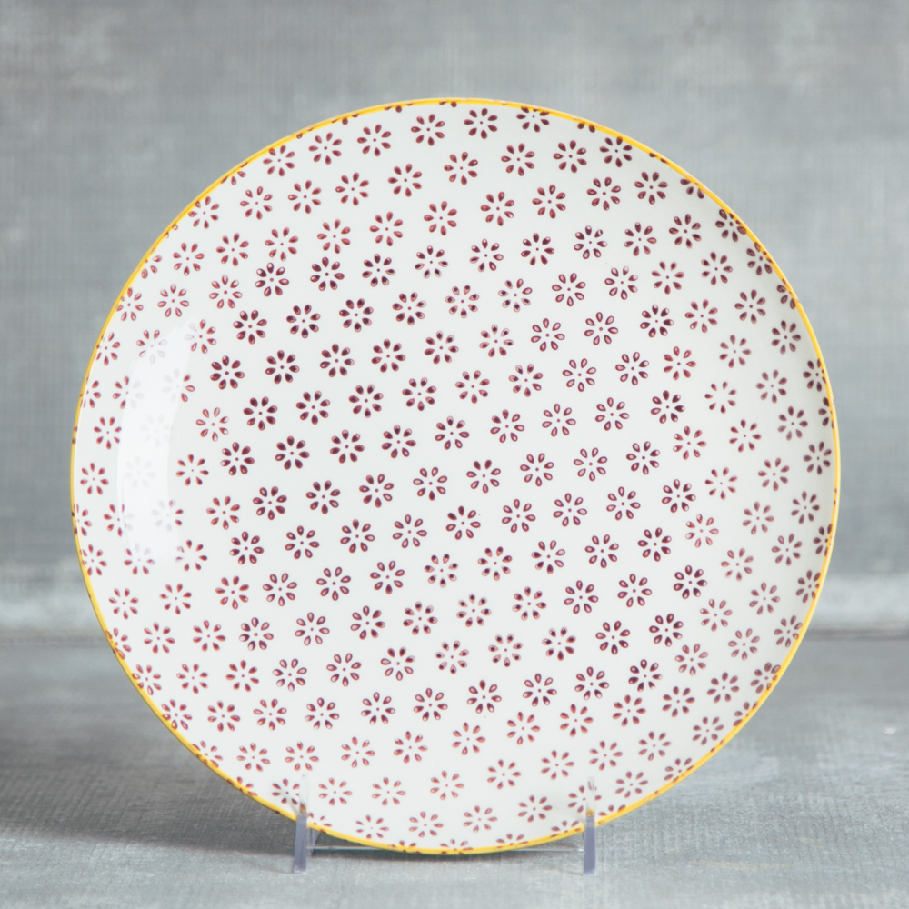 susie q st&ed pattern ceramic dinnerware relish decor cereal dinner plate red flower  sc 1 st  Relish Decor & Susie Q Dinner Plate - Relish Decor