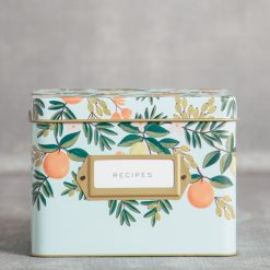 rifle paper company relish decor citrus floral recipe box