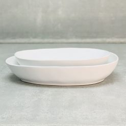 Livia White Oval Bakers