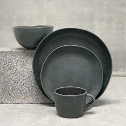 Livia Black Placesetting 4pc