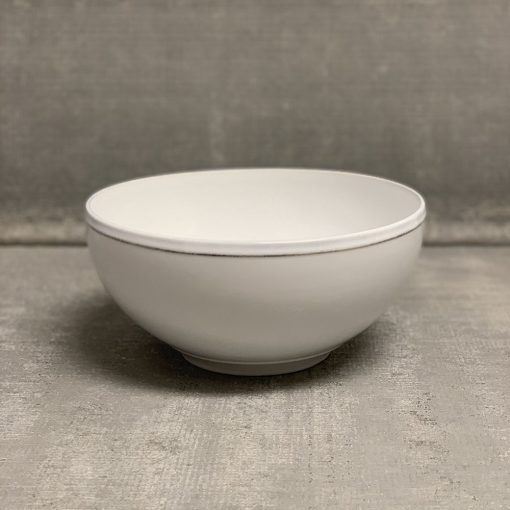 Relish Decor Costa Nova Friso Dinnerware White Salad Serving Bowl