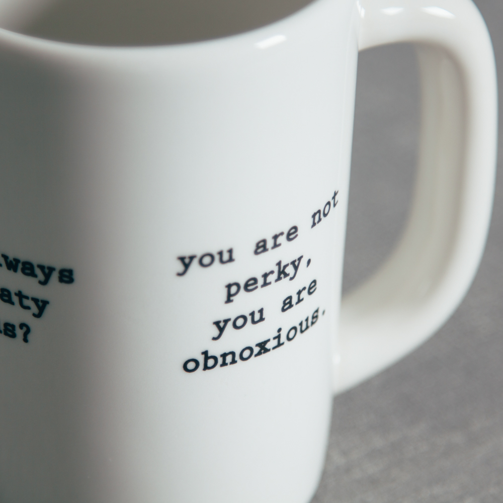 Intervention-Ware Coffee Mug You are not perky Fishs Eddy Relish Decor