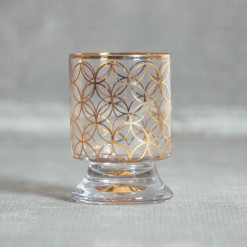 Jet Setter Glassware Collection DOF Double Old Fashioned Glass Gold Rings Design Relish Decor