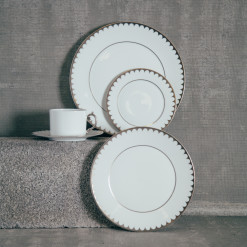 LObjet Aegean Filet Platinum China Dinnerware Pattern Relish Decor