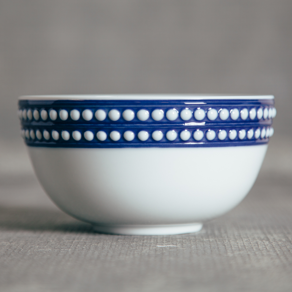 LObjet France Perlee Blue Cereal Bowl Relish Decor
