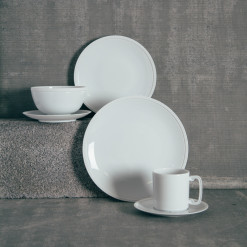 LObjet Soie Tressee Dinnerware Collection White Fine China Relish Decor