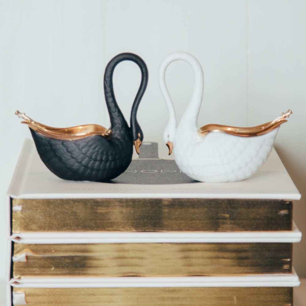 Swan Salt Cellar Relish Decor