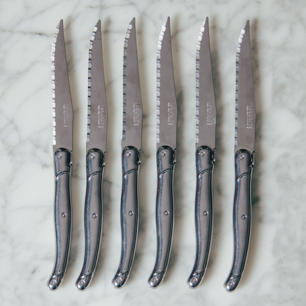 Laguiole Stainless Steel Debutant Steak Knives Collection Relish Decor