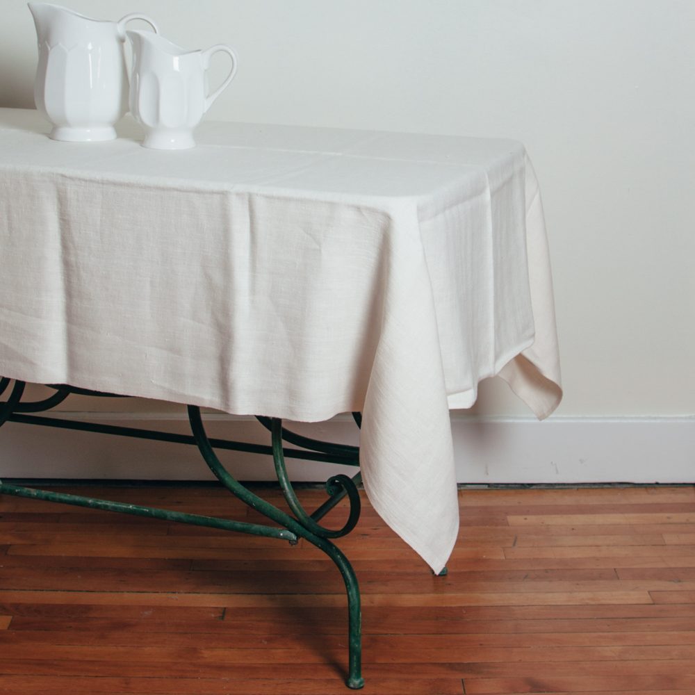 Lara Linen Cream Tablecloth Relish Decor