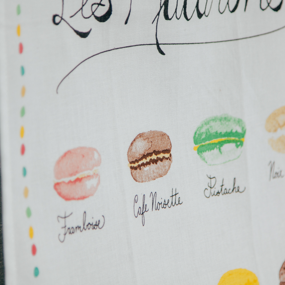 Les Macarons Flavors Tea Towel Relish Decor