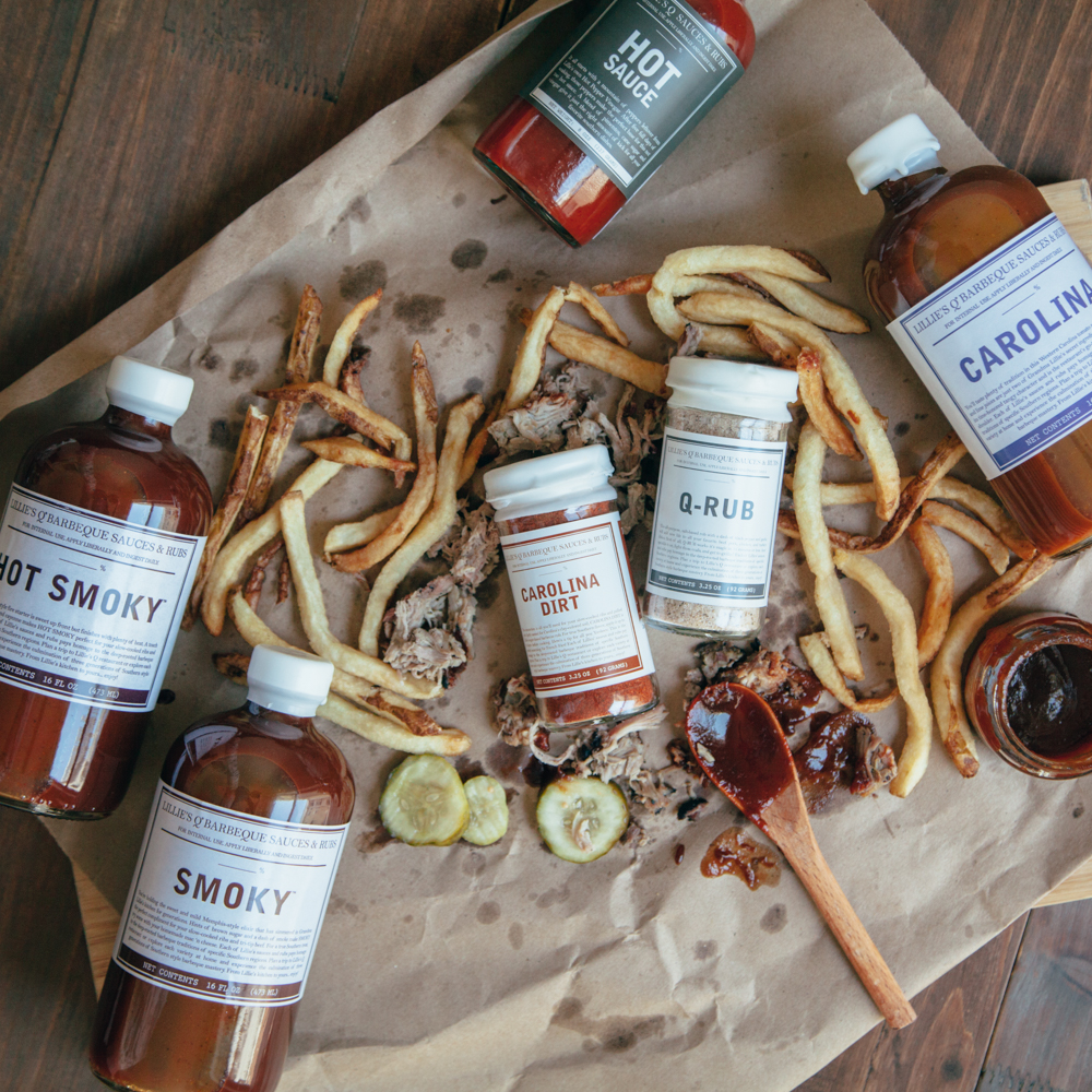 Lillie's Q BBQ Collection Rubs, Sauces, Spices and Hot Sauce Relish Decor