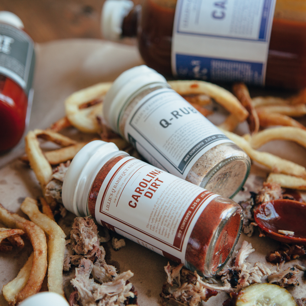 Lillie's Q BBQ Collection Rubs Sauces Spices and Hot Sauce Relish Decor
