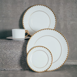 Lobjet Aegean Filet Gold China Set Relish Decor
