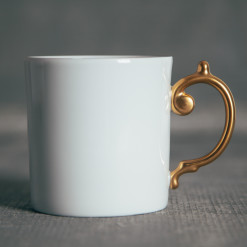 Lobjet Perlee Gold Fine China Mug Relish Decor