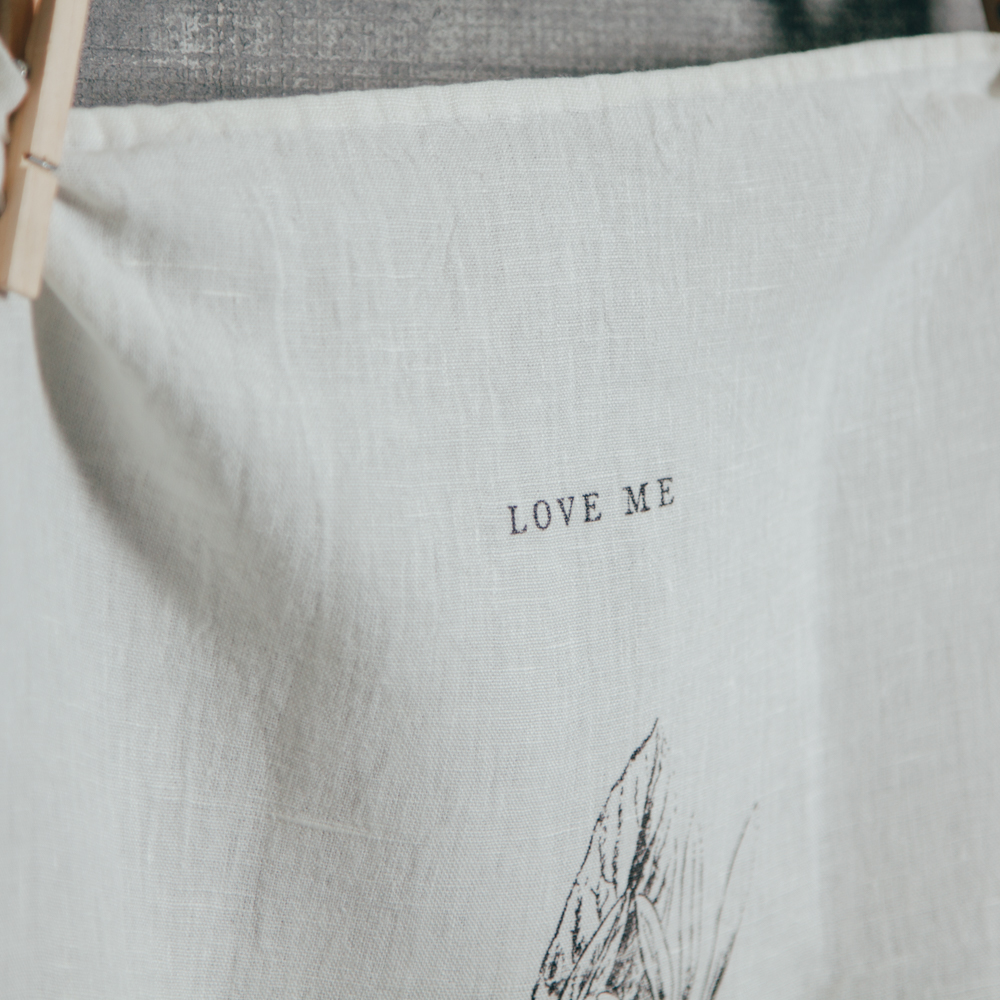 Love Me Love Me Not Pure Linen Towel Sir Madam Relish Decor