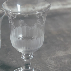 Lydia Garland Glassware Collection WIne Glass Water Goblet Relish Decor