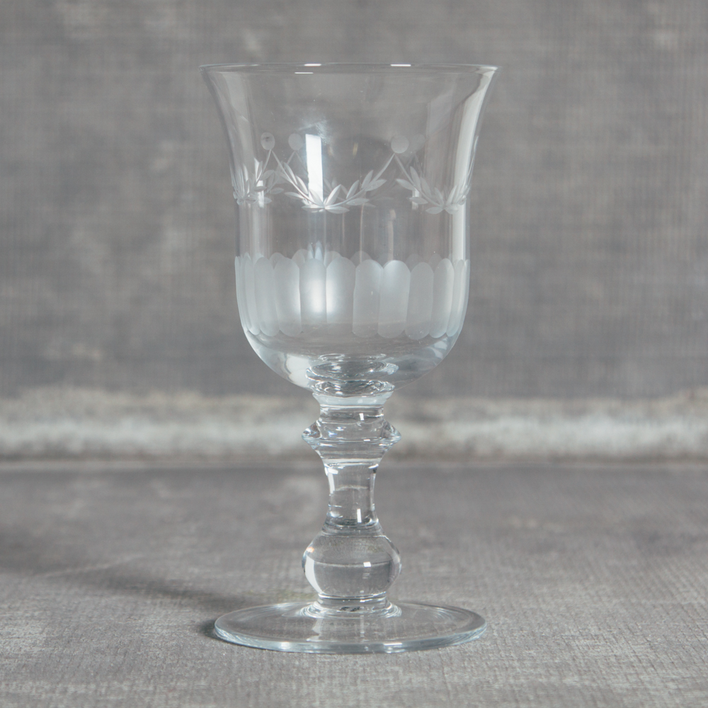 Lydia Garland Glassware Collection Water Goblet Relish Decor