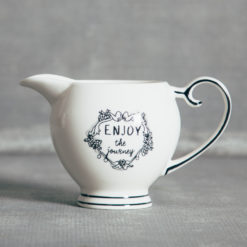 Mandy Enjoy The Journey Handlettered Text Creamer Relish Decor