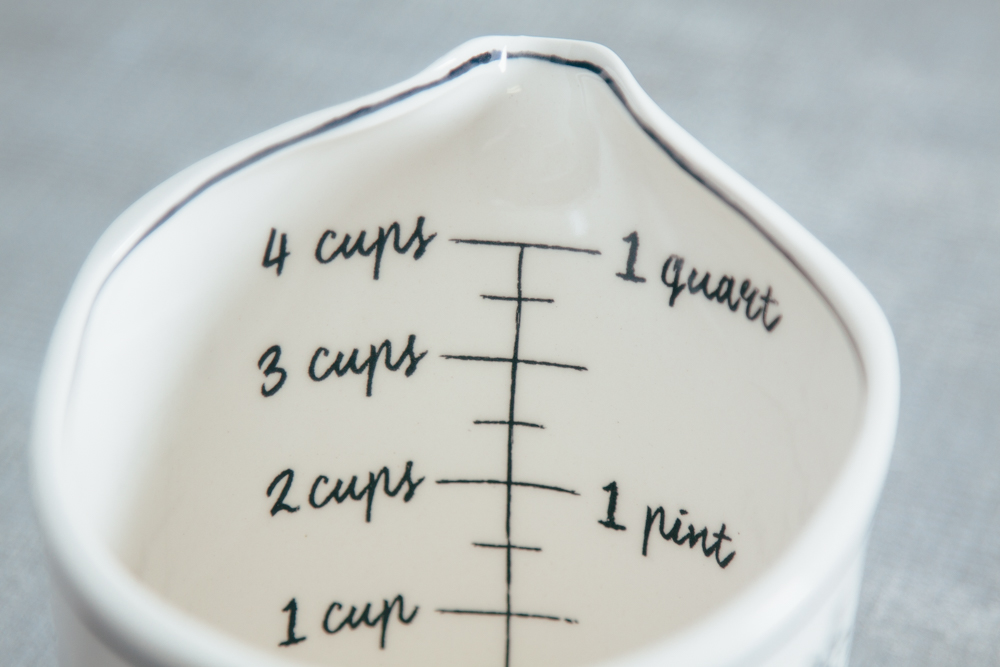 Mandy Measuring Cup Handpainted Black and White Collection Relish Decor
